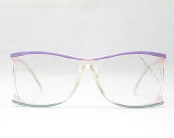 Neostyle Cosmet 335/207 / Vintage Oversized Glasses / Transparent Pink Violet / Women's Eyewear Frame / Gift For Her / Very Rare