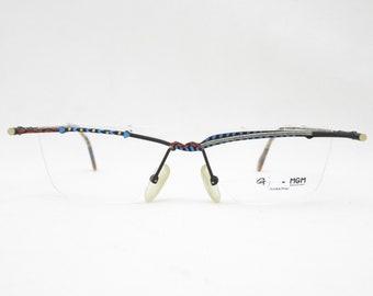 Glasses frame men MGM OPTIK Glasses Vintage Men's 90s eyewear for men frame Vintage rimless glasses Made in Germany Designer Eyeglasses