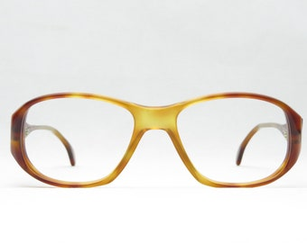 Glasses for men and women of the 80s, da vinci, vintage glasses panto, brown, 70s, XL, large, panto, gift NEW NOS, Fesitval