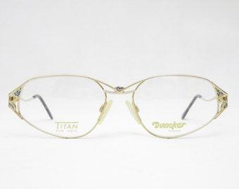 Vintage glasses by DUNCKER mod. Bellevue 775 100% TITAN, eyewear frame for women, gift for her, vintage eyeglass frame, trend, 80s
