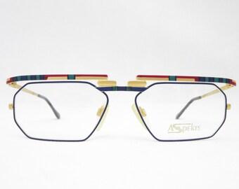 Glasses frame men DUNCKER ASPEKTE Glasses 80s men's gold Original Vintage eyewear for men accessories frame vintage Made in Germany square