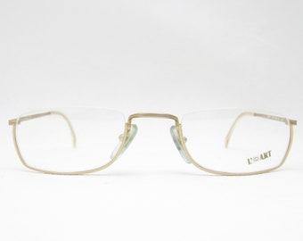 Reading glasses Glasses L'ART / reading glasses vintage glasses frames mens eyeglasses eyewear for women Eyewear frame gold 80s Women's Men's