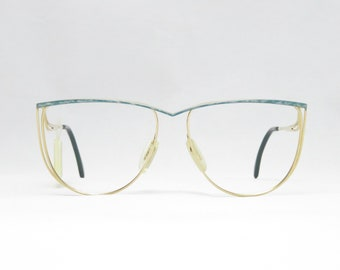 ZEISS WEST GERMANY Vintage Glasses from the 70s for Women, 22kt Gold Eyeglass Frame, Gift for Women, Metal Glasses, Trend