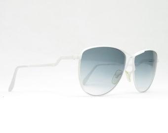 Vintage sunglasses with gray-tinted strawthglasses and white frame, vintage glasses for women, gift for girlfriend, glasses trend