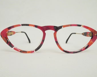 643b4588594 Vintage Bijou Multicolor eyeglass frames from the 80s