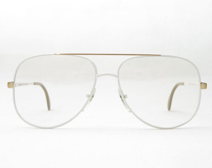 Actuell Couture mod. Flash 1204 / Vintage Pilot Glasses / 80s Eyewear Frame / Metal Frame / White Gold / Very Rare / Rarity