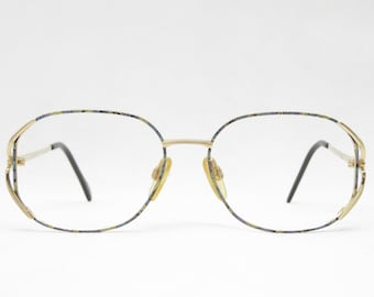 Classic golden glasses from the 80s by HAUSHOFER OPTIK, vintage glasses ladies, glasses vintage, gift for her, eyeglass frames