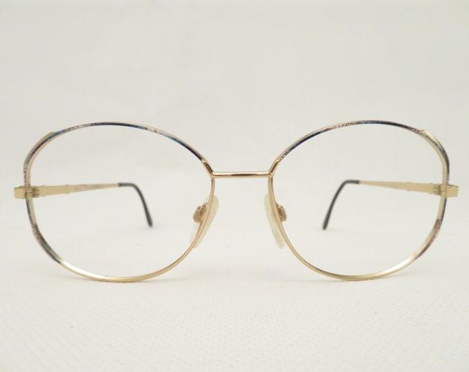 Vintage Michl Ladies Glasses, Eyeglasses from the 80s, Metal Glasses Holder, Gift for Her, Occhiali, Lunettes, Gafas