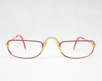 Vintage glasses, reading glasses by COTTET mod. D083, Made in France, gift for mom, frames, eyeglass frame, trend, gold, hipster