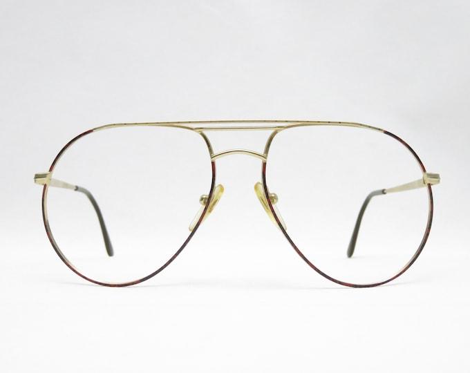 Vintage glasses SLIM mod. S737, pilot glasses 80s, original eyeglass frame, gift for him, hipster eyeglass frame, trend, gold