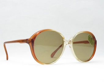 Sunglasses for Women and Men's 80s, Menrad, Vintage Glasses Panto, Brown, 70s, XL, Large, Panto, Gift NEW NOS Hippie