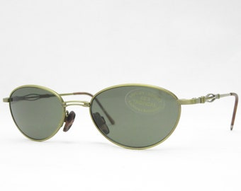 Vintage sunglasses for women from the 90s, retro sunglasses with green glasses, gift for her, oval glasses, retro glasses