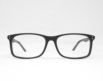 Black Plastic Glasses for Men, Gift for Him, Glide Glasses, Sunglasses, Retro 70s 80s, Trend, Rectangular, Vintage