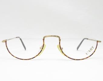 Reading glasses Eyeframe Frame L'ART / Vintage glasses frames reading glasses gift for men 80s eyeglasses eyewear for men Glasses Men's gold