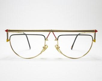 CASANOVA RVC 1 Vintage Glasses NOS Glasses Rarity Eyewear Frame Gold Very Rare Unisex Vintage Frame Gift 80s Accessory Trend