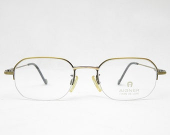 Vintage Nylor Halbrand glasses AIGNER mod. EA458 TITAN, Made in Japan, eyewear frame of the 80s, gift for women, trend, accessory