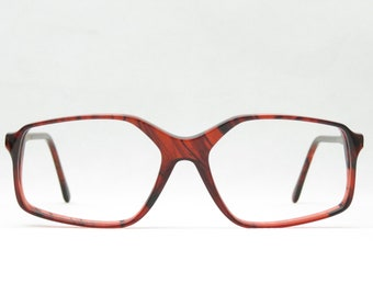 Glasses for men and women of the 70s, w-germany, vintage eyeglass frame, panto, brown, 80s, XL, large, panto, gift NEW NOS