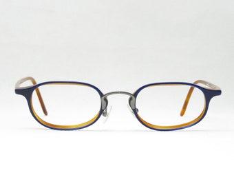 759a2d1efc49 GEORGIO ARMANI mod. 2008 Vintage glasses 90s designer glasses blue  brown plastic frame fashion accessory light and small
