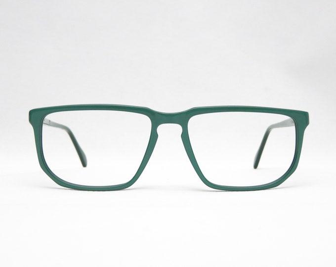 Vintage glasses CHAI mod. AC14, vintage eyeglass frame Made in Germany, eyewear frame 90s, gift for her, color green, plastic