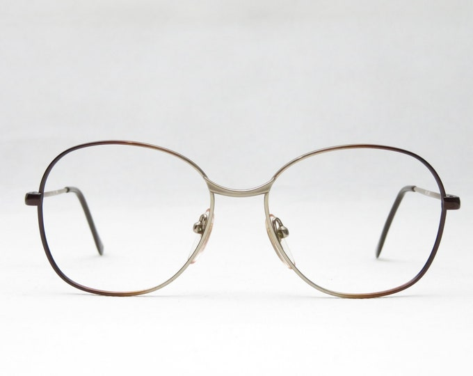 All Optic mod. 1613 / Vintage Women's Glasses / 70s Eyewear Frame / West Germany / Very Rare / Accessory Gift Women / Bronze