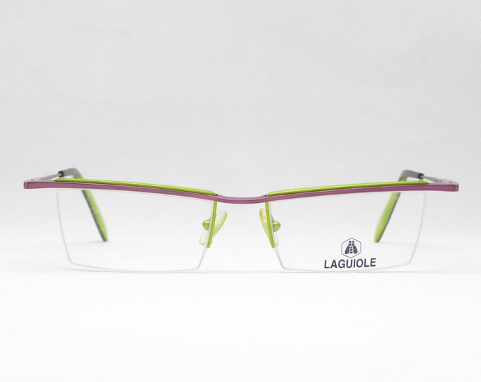 Vintage glasses for ladies by optician, birthday gift for wife & girlfriend, 90s trend eyeglasses mount lilia green, new, nos