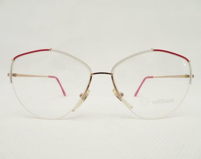 Vintage Zollitsch ladies glasses, 80s eyewear frame, metal frame, gift for her, Occhiali, Lunettes, Gafas, eyewear