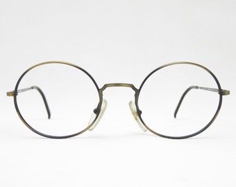 SUNJET CARRERA Glasses, Vintage Eyeglass Frame, Vintage Eyeglass Frame, Vintage Glasses, Round Brown Unisex 80s, Nickel Glasses, Trend
