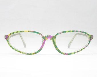 934d59d2679 Narrow vintage plastic glasses by COMET