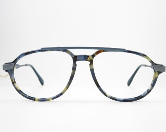 Vintage Glasses ADIDAS By MASTERS A805 Unisex Eyeglasses Frame OldSchool Eyeglasses Frame 80s Vintage Rarity Blue Brown Pilot Glasses