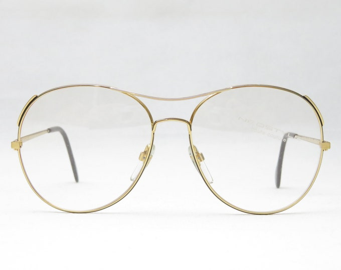 Neostyle Academic 55/319 / Vintage Glasses / Women's Oversized Eyeglass Frame / 70s Metal Frame / Gift Student / Gold / Trend