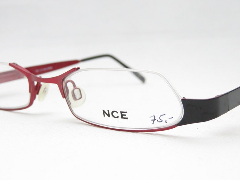 NCE mod. 402 / Vintage Halbrand Glasses / Women's Accessory / Frame for Reading Glasses / Vintage Deadstock / Gift for Her / Metal Red