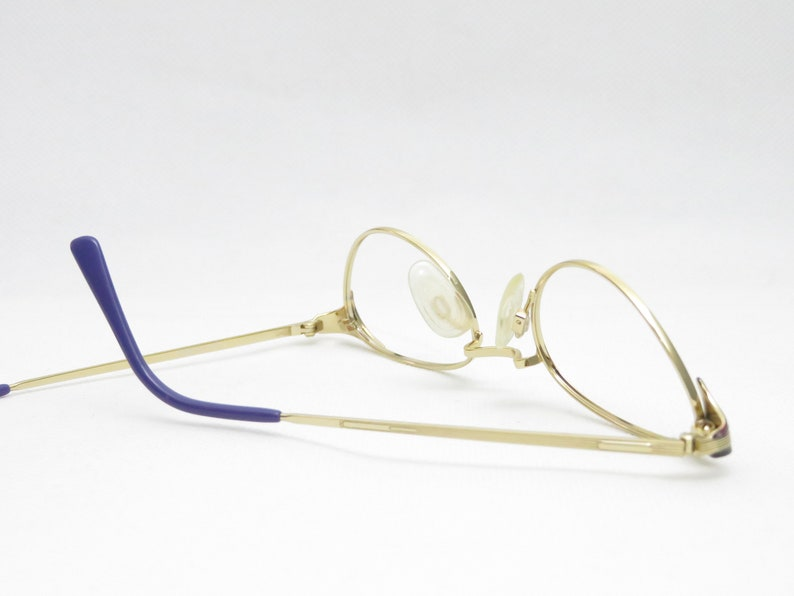 Steampunk Cateye Glasses for Women, Small Oval Eyewear Frame from the 1990s, Vintage Glasses, Golden Frame, Trend, Gift Woman
