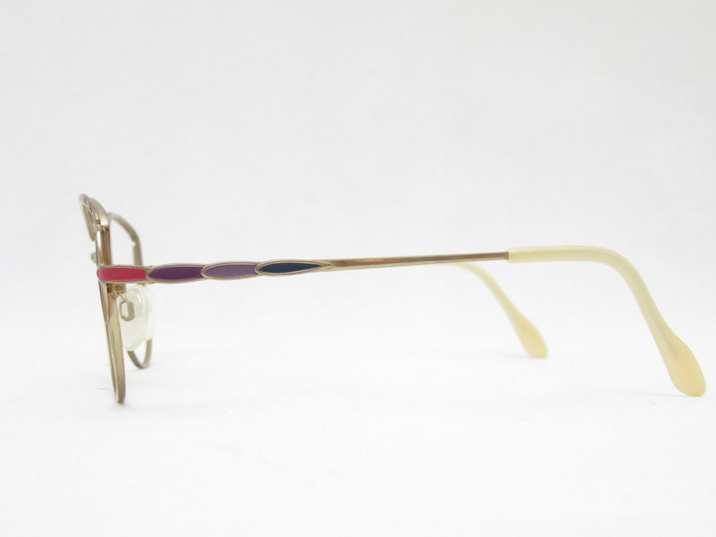 METZLER 7341 Germany Glasses, Vintage Eyewear Frame, Vintage Glasses, Glasses Women's gold pink 80s, Vintage eyeglass frames, Trend Unique