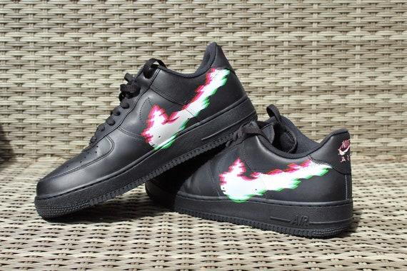 Glitch custom nike air force 1