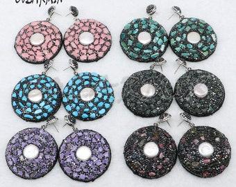 3-5 pairs pearl earrings 58058be16