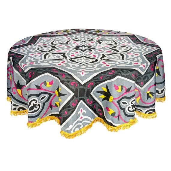 "Egyptian Ramadan Decorative Red Khayamiya Tablecloth Square 55/"" 140 cm"