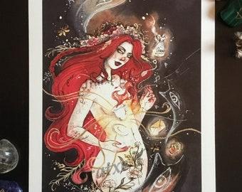 Whimsical Print- A5 13'5x21cm