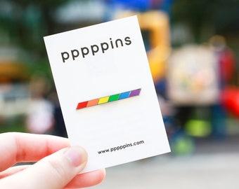 Rainbow Stripe Pin