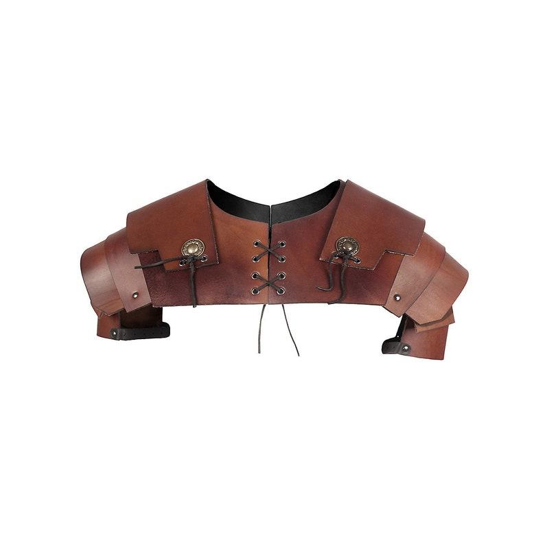 Leather Pauldrons Centurio LARP