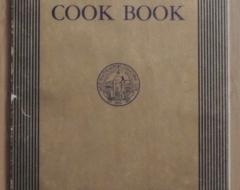 Club presidents contributed recipes for this fundraiser compiled by West Newton, Massachusetts women's club paperback cookbook in 1930