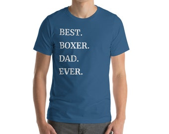 3b53897ce Mens Best Boxer Dog Dad Ever T-Shirt Dog Lovers Shirt Dog Owner Gift Tee