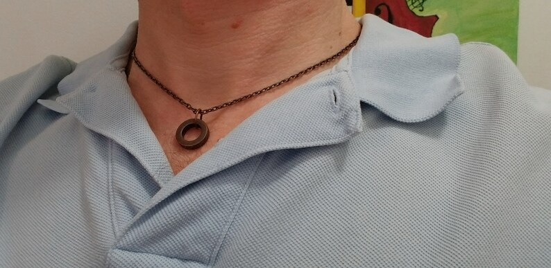 Copper ring and chain necklace