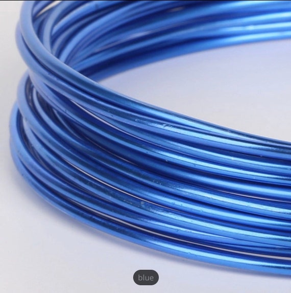 UK Seller Craft Wire 2mm 5 Meter Coil of Coloured Aluminium Jewellery Wire