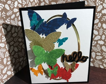 Butterfly handmade card