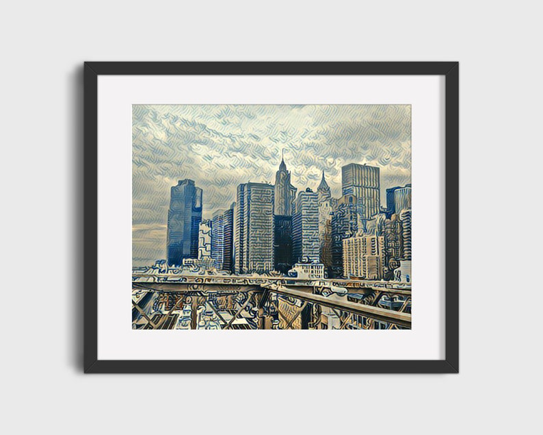 Manhattan Skyline Photograph New York City Art Print Home Etsy