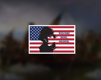 BOGO Welcome Home Soldier Decal Sticker Army Navy Marines Air Force Coast Guard USA Veteran