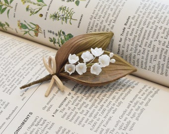 Flower and Lily brooch (S)