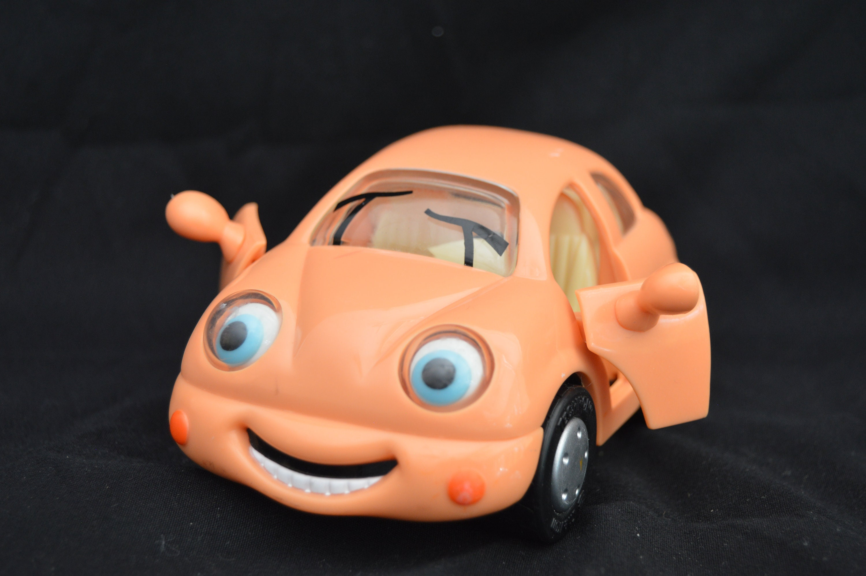 Skyler Scamper Toy Car Chevron Toy Car Orange Toy Car Etsy