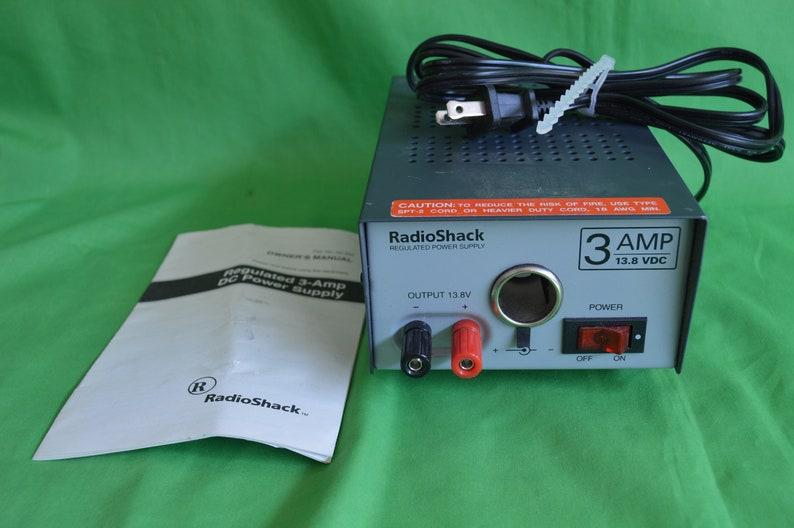 Regulated 3-AMP DC Power Supply, Radioshack Power Supply, Vintage  Radioshack Regulated 3-amp Power DC Power Supply