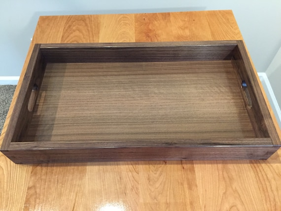 Fabulous Wood Serving Tray Walnut Serving Tray Wood Tray Ottoman Tray Kitchen Tray Dovetail Tray Dailytribune Chair Design For Home Dailytribuneorg